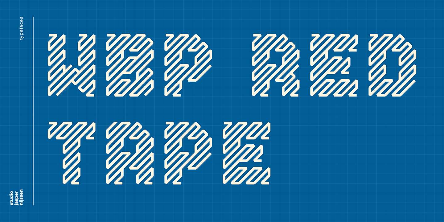 font lettertype wbp red tape