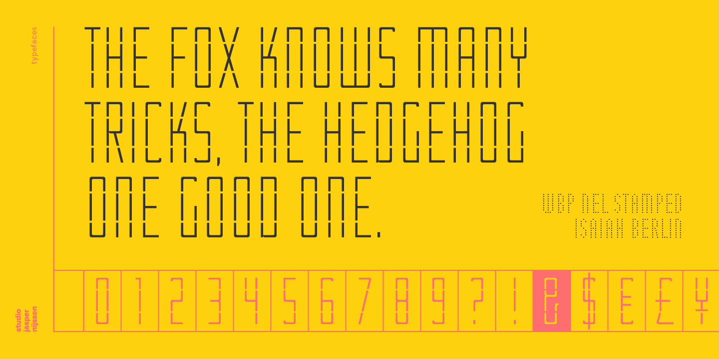 font lettertype wbp nel stamped